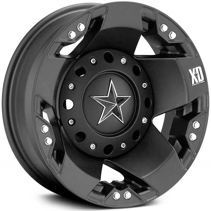 KMC 775 XD Series Rockstar Dually Rear Black