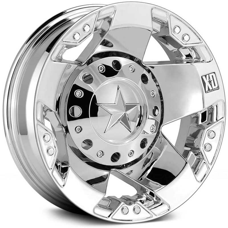 KMC 775 XD Series Rockstar Dually Rear Chrome