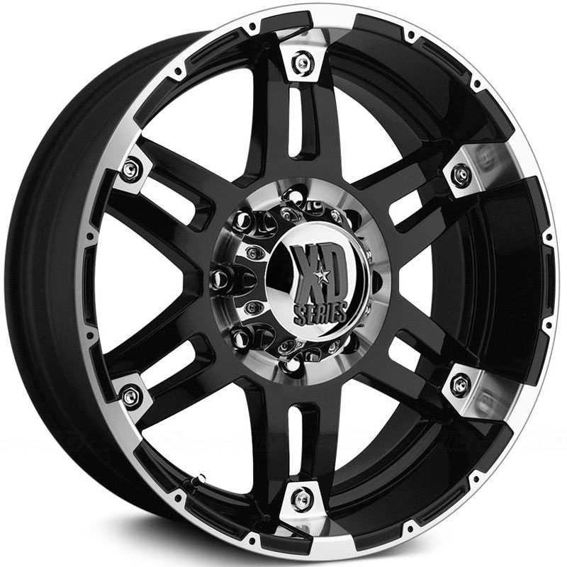 KMC 797 XD Series Spy  Wheels Gloss Black / Machined Lip