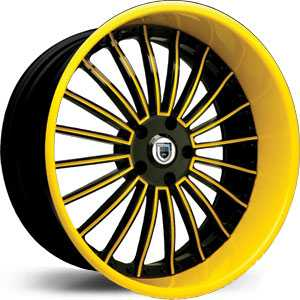 Asanti AF 122  Wheels Black/Yellow Accents