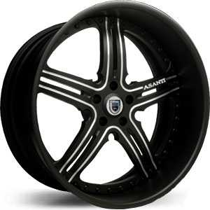 Asanti AF 135  Wheels Black/Chrome Accents