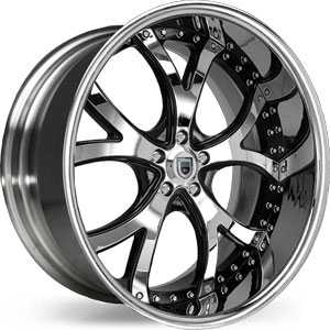 Asanti AF 143  Wheels Black/Chrome Accents