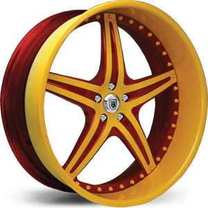 Asanti AF 144  Wheels 2 Tone Yellow/Red