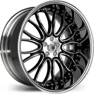 Asanti AF 145  Wheels Chrome/Black Accents