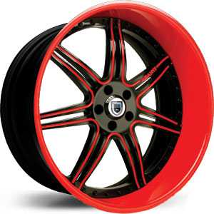 Asanti AF 146  Wheels Black/Red Accents