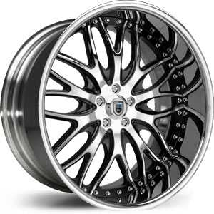 Asanti AF 147  Wheels Chrome/Black Accents