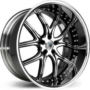 Asanti AF 150  Wheels Chrome/Black Accents