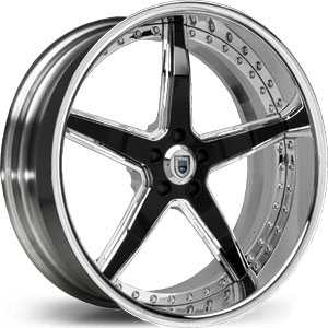 Asanti AF 157  Wheels Chrome/Black Accents