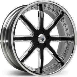 Asanti AF 158  Wheels Chrome/Black Accents