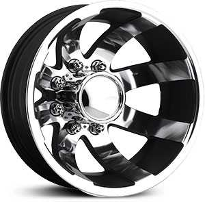 Eagle Alloy 098 Dually  Wheels Superfinished with Black Trim