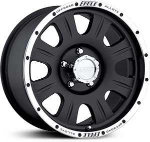 16x8 Eagle Alloy 140 Black RWD