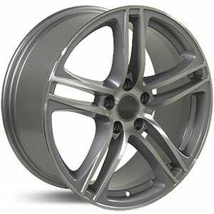 Audi R8 AU07  Wheels Silver w/Machined Face