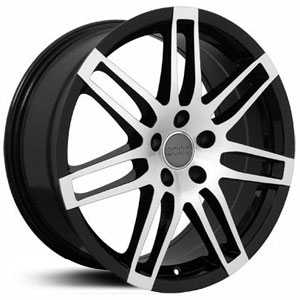 Audi New RS4 AU05  Wheels Machined Face Black