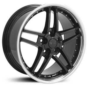 Chevy Corvette C6 Z06 CV07  Rims Black with rivets SS Lip