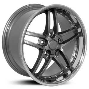 Chevy Corvette C6 Z06 CV07  Wheels Gunmetal with rivets SS Lip