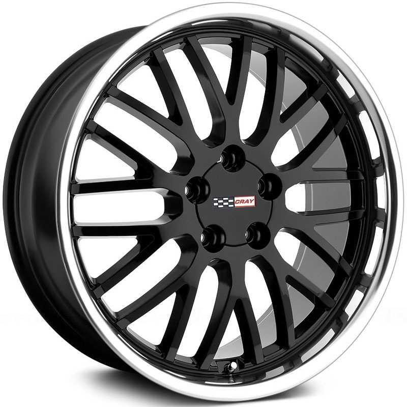Cray Manta  Wheels Gloss Black w/ Mirror Cut Lip