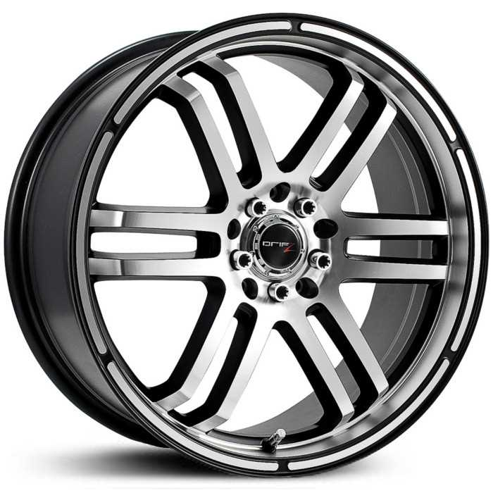 Drifz 207MB FX  Wheels Machined Face and Lip/Gloss Black Accents