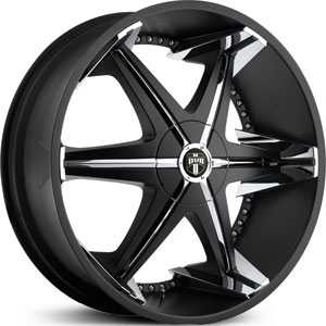 24x9.5 Dub Shooz Homie Black / Chrome Inserts MID