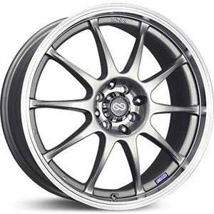 "17"" x 7"" Enkei J10 Matte Black/Machined Lip RWD"