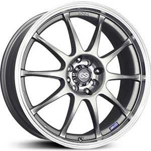 "17"" x 7"" Enkei J10 Matte Silver/Machined Lip RWD"