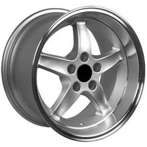 Fits Ford Mustang Cobra 5 Lug FR04  Wheels Silver Deep Dish