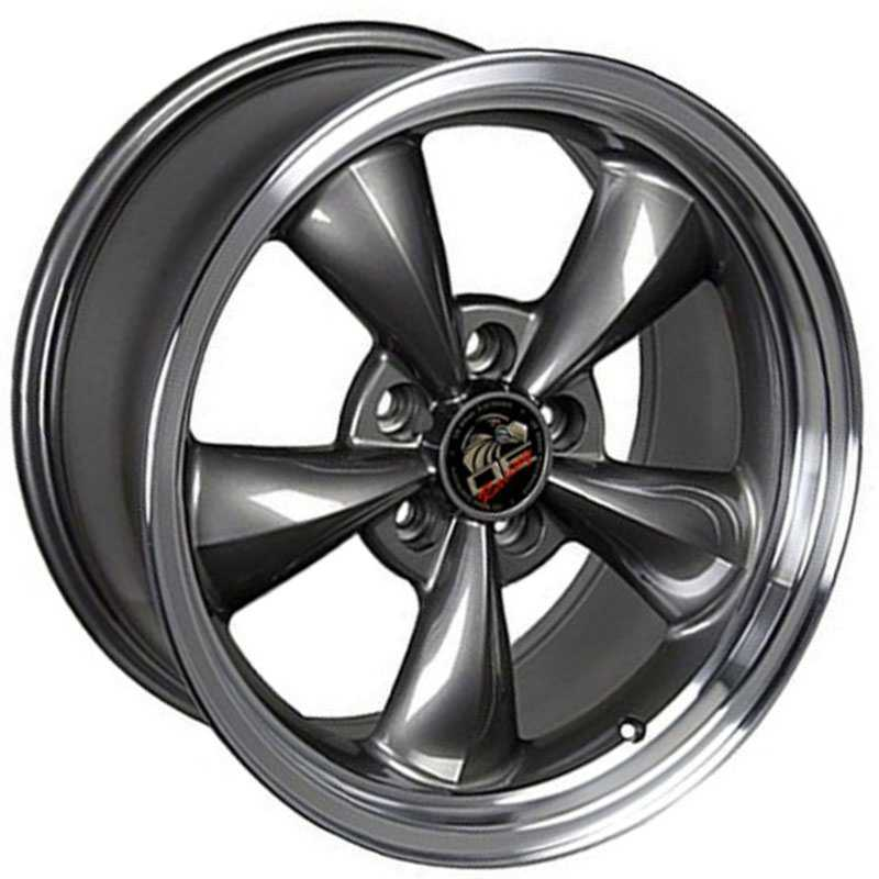 Fits Ford Mustang Bullitt FR01  Wheels Anthracite Machined Lip