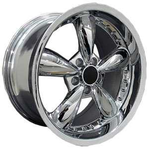Fits Ford Mustang Bullitt FR08  Wheels Deep Dish Chrome w/Rivets