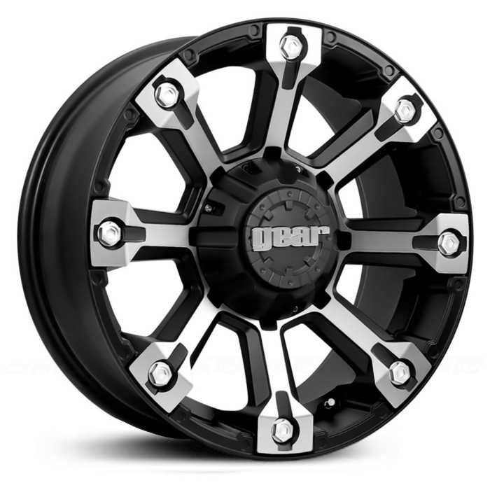 Gear Alloy Backcountry 719MB  Wheels Machined Face/Carbon Black Accents