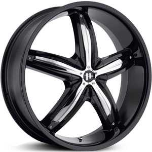 Helo HE844  Wheels Gloss Black/Chrome Accents