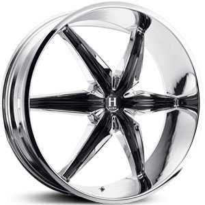 Helo 866  Rims Chrome/Gloss Black Accents