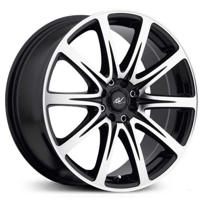 ICW Racing 209MB Euro  Wheels Mirror Machined/Gloss Black Accents