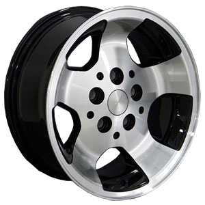 Jeep Wrangler JP08  Wheels Machined Face Black