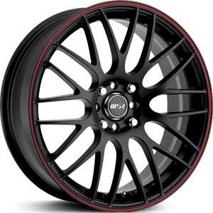 MSR 045  Wheels Black/Red Stripe