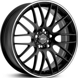 MSR 045  Wheels Black/Silver Stripe