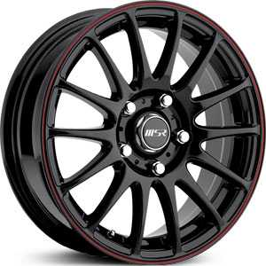 MSR 068  Wheels Black/Red Stripe