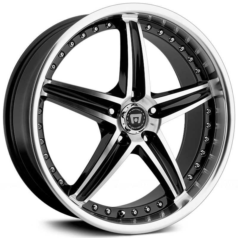 Motegi Racing MR107  Rims Gloss Black/Machined