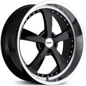 18x8 TSW Strip Black Gloss / Mirror Cut Lip HPO