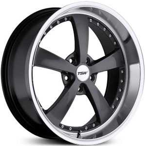 18x9.5 TSW Strip Gunmetal / Mirror Cut Lip HPO
