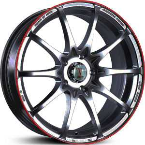 Velocity 211  Rims Machined/Red
