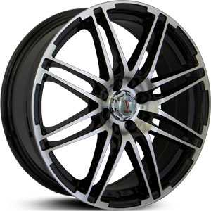 Velocity 287  Wheels Gloss Black/Machined