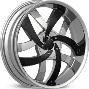 Velocity 825  Rims Chrome w/ Black Inserts