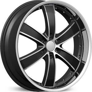Velocity 855B  Rims Black/Machined w/ Milled Lip