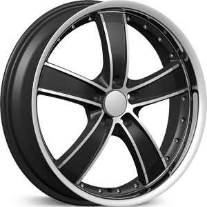 Velocity 855A  Wheels Black/Machined Milled Lip