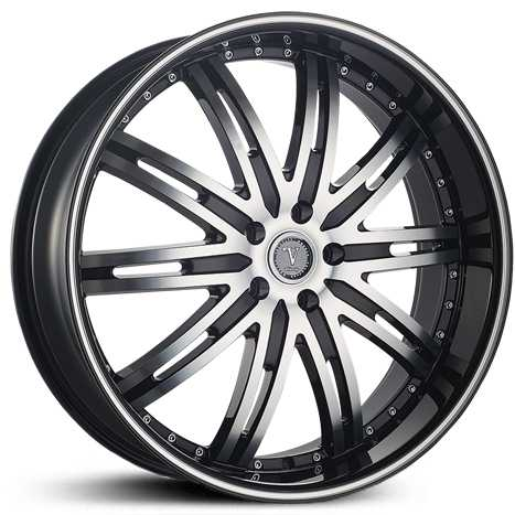 Velocity VW-865A  Wheels Gloss Black/Machined