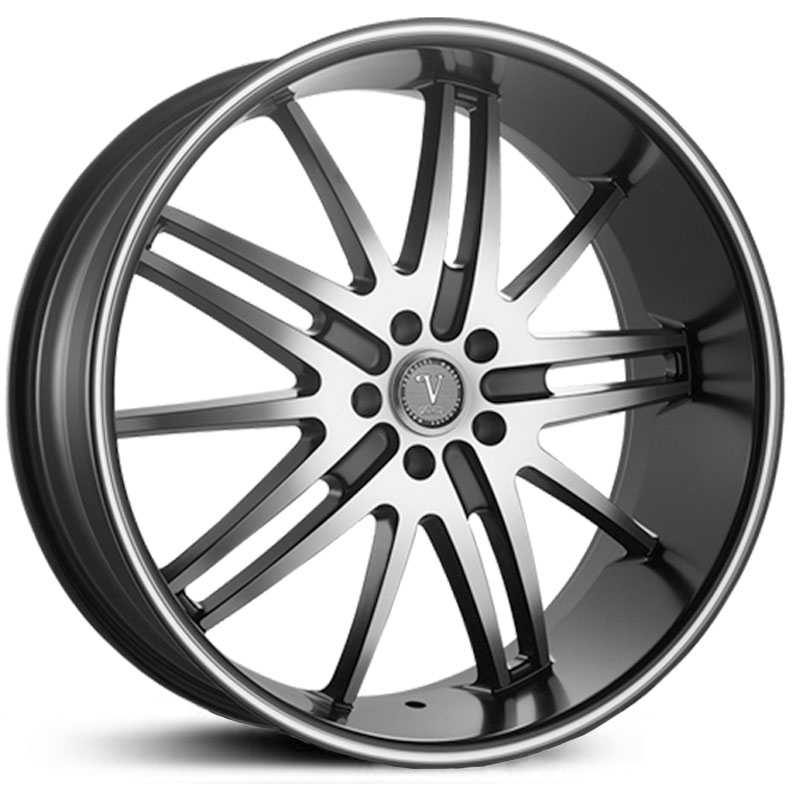 Velocity 910A  Wheels Gloss Black/Machined