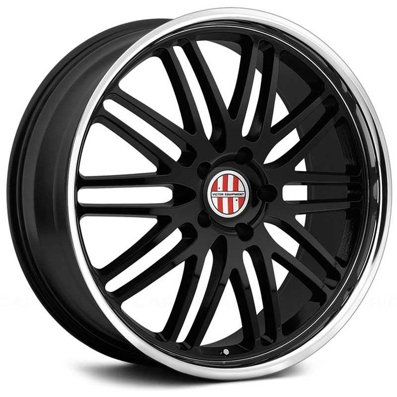 Victor Equipment Lemans  Wheels Gloss Black w/ Chrome