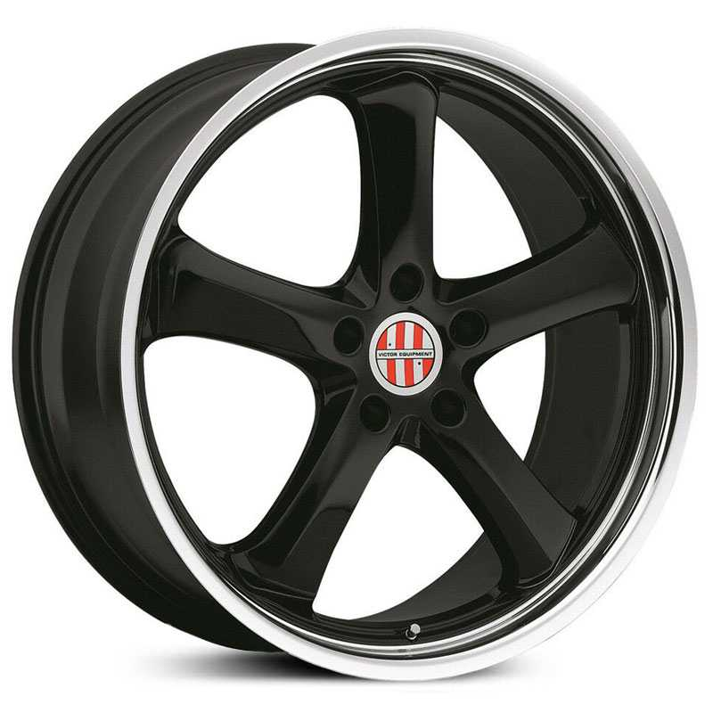 Victor Equipment Turismo  Wheels Gloss Black w/ Chrome