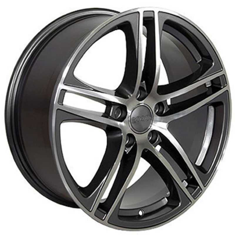 Audi R8  Wheels Gunmetal Machined Face