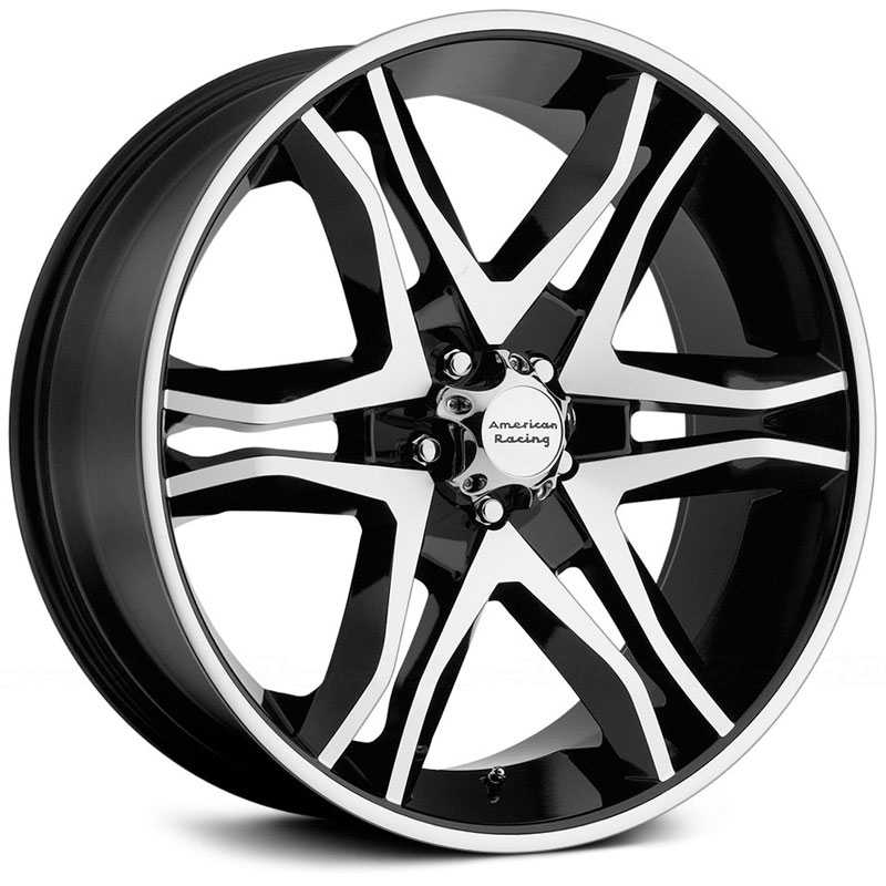 20x8.5 American Racing AR893 Mainline Gloss Black Machined HPO