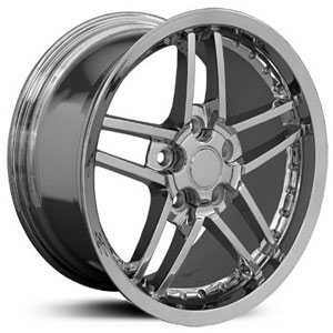 Chevy Corvette C6 Z06 CV07  Wheels Deep Dish Chrome with rivets